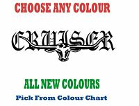 CRUISER 300mm LONGHORN DECAL *CHOICE OF COLOURS* LANDCRUISER Hilux RMW STICKER