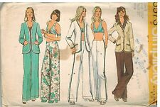 5573 Vintage Simplicity Sewing Pattern Misses Cardigan Bra Hip Hugger Pants OOP