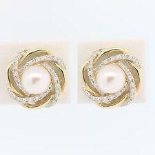 b26c124a7 Pearl Stud Yellow Gold 14k Fine Earrings for sale | eBay