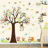Jungle Animal Owl Monkey Tree Wall Stickers Kids Art Decor Mural Decal Nursery