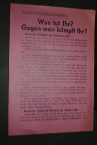 sowjetisches Flugblatt, 2. Weltkrieg,