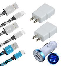 6 Car Wall Charger Type C Cable For ZTE Blade Z/X Max 3/XL SPARK Zmax Pro Z981