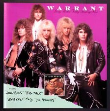 WARRANT JANI LANE GLAM HEAVY METAL DIRTY ROTTEN 1989 VINTAGE PROMO POSTER