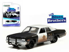 1974 DODGE MONACO BLUESMOBILE THE BLUES BROTHERS 1980 1/64 BY GREENLIGHT 44710 C