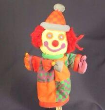 Gymboree Kids Clown Head Puppet Plush Full Size Hand Vintage  Stuffed  Animal