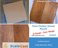 O gauge TIMBER SHEET MOULD - CAST AS MANY AS YOU WANT in O Scale - OGD03