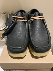 Clarks Original Wallabee Black Natrual Leather US Mens 7 Brand New With Box