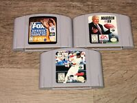 3 Game Lot Sports Madden Fox Sports All-Star Baseball Nintendo 64 N64 Authentic