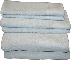Artisan 100% Cotton Bath Towel Set, 6pcs (Very Light Gray)