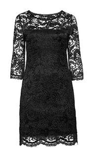 Spitzenkleid ANNA SCHOLZ by SHEEGO Damenkleid kurz schwarz Spitze Gr.44 NEU