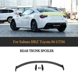 5X Carbon Fiber Rear Trunk Spoiler Lid Wing Fit For Toyota 86 Subaru BRZ 2013-19