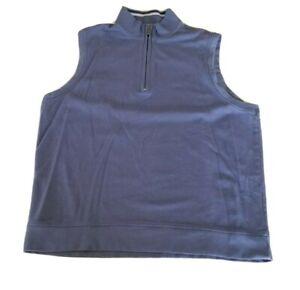 Men's Bobby Jones 1/4 Zip 100% Peruvian Pima Cotton Purple Golf Vest Sz Large