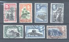 Ceylon, 1938 George VI selection, Good/Fine Used