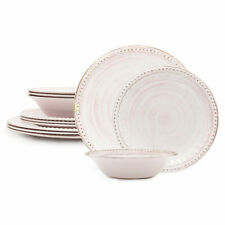 Zak Designs French Country House Dinnerware 12 Piece Melamine Set Includes