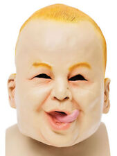 Adult Rubber Overhead Scary Funny Baby Mask Fancy Dress Halloween Stag Freshers