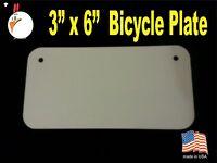 "UV-PRO! High Gloss Aluminum 3"" x 6"" Bicycle plates -Dye Sublimation Blanks 30 pc"