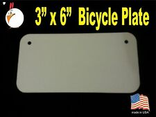 "UV-PRO! High Gloss Aluminum 3"" x 6"" Bicycle plates -Dye Sublimation Blanks 20 pc"