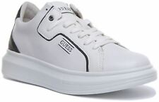 Guess Salerno Chunky Lace up Trainer In White Size UK 7 - 12