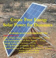 CD - Free Energy - Solar Power for Dummies - 40 eBooks