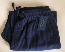 Polo Ralph Lauren 100% Cotton Men's Navy Blue Long Pyjama PJ Bottoms Sleep Large