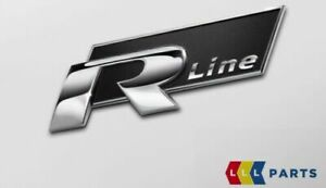 NEW GENUINE VW GOLF PASSAT R-LINE SIDE CHROME BLACK BADGE EMBLEM 5K0853688A FXC