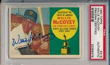 Giants Willie McCovey Signed Auto 1960 Topps RC Card #316 ~ PSA/DNA Slab HOF 86