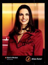 Katrin Wrobel Glücksrad Autogrammkarte Original Signiert # BC 123976