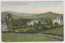 Wales postcard - Church and Hotel, Llanberis