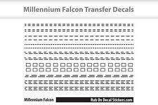 Millennium Falcon Rub on Transfers Kit - Restoration Decal Sticker - Scale Model