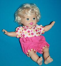 Mattel 2012 LITTLE MOMMY LAUGH and LOVE Baby Doll Talks Head Arms Move