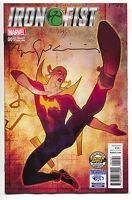 Iron Fist 1 Marvel 2017 Golden Apple Wondercon Bill Sienkiewicz Variant Signed