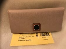 NWT DOONEY & BOURKE PEBBLED LEATHER OYSTER BIFOLD WALLET ZR035