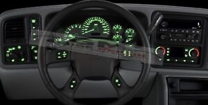 Dash Bulb to LED Upgrade Kit in Green 2003 04 05 06 Silverado Siera Tahoe & more