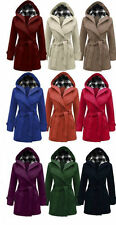 Unbranded Patternless Hip Length Coats & Jackets for Women