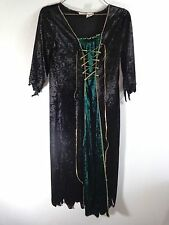WITCH DRESS Gown Halloween Costume SIZE 4-6 GIRLS Queen Medieval Black Green