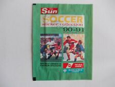 football stickers 1 unopened packet, THE SUN 1990-91