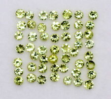 Natural Peridot Round Cut Calibrated 2 mm 50 Pcs 1.81 CTS Lot 50 Pcs Loose Gems