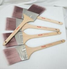 """5 Purdy Nylox Dale Paint Brushes 3"""" Angled All Paints Lot New Unused Painters"""