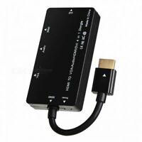 VGA/Audio/HDMI/DVI 4in1 Dongle Adapter Multiport Splitter Converter to HDMI