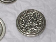 CHANEL PARIS CAMBON CC LOGO 5  SILVER METAL BUTTONS  26  MM/ over 1''  NEW