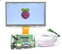 "7"" 7inch TFT LCD Display Module HDMI+VGA+2AV Driver Board for Raspberry Pi"