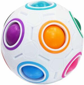 Magic Rainbow Fidget Ball Toy Speed Cube Brain Teaser Stress Relief for All