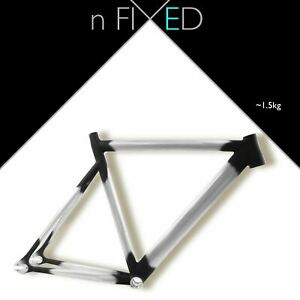 nFIXED 'Panda II' Frame-set track aluminium ss fixie tt