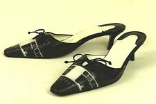ICON / ITALY / EXQUISITE MULE IN BLACK & WHITE / 7 M / EXCELLENT
