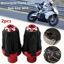 2*Motorcycle 10MM Frame Anti-falling Protector Ground Crash Slider Cap Bolt M10