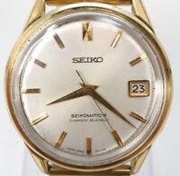 Rare! Vintage 1960's SEIKO SEIKOMATIC-R DIASHOCK 30 Jewels Automatic Men's Watch