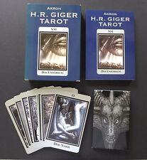 H.R. Giger Baphomet Underworld Tarot Cards Deck and Book Set Akron Verlag