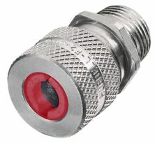 """6 - HUBBELL SHC1021 CTJ Aluminum Cord Connector NPT Hub Size 1/2"""" Color Code Red"""