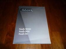 Saab 90 und Saab 900 und Saab 9000 Prospekt 1985