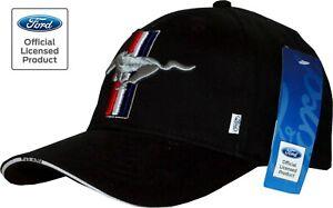Ford Mustang Cap Pony, lizenziert Basecap 2021 Pferd Kappe, Blitzversand schwarz